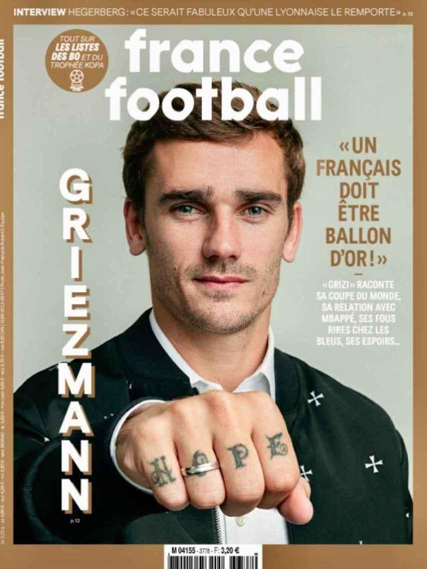Portada France Football: Griezmann y el Balón de Oro
