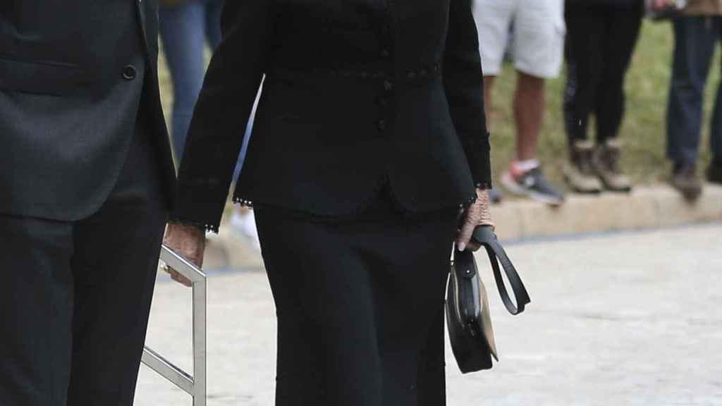 La reina Sofía llegando al tanatorio de Les Corts