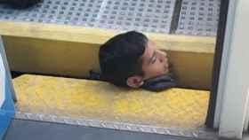 El joven estaba completamente inmovilizado.