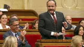 El aspirante a presidir el PP de Cataluña, Alejandro Fernández, en una imagen de archivo.