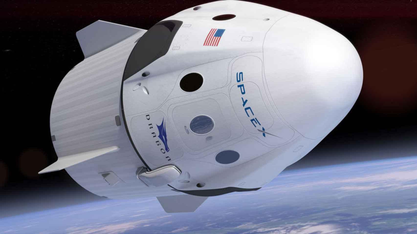 spacex dragon nave espacial capsula astronautas nasa