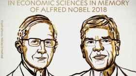 William D. Nordhaus y Paul M. Romer, premios Nobel de Economía.