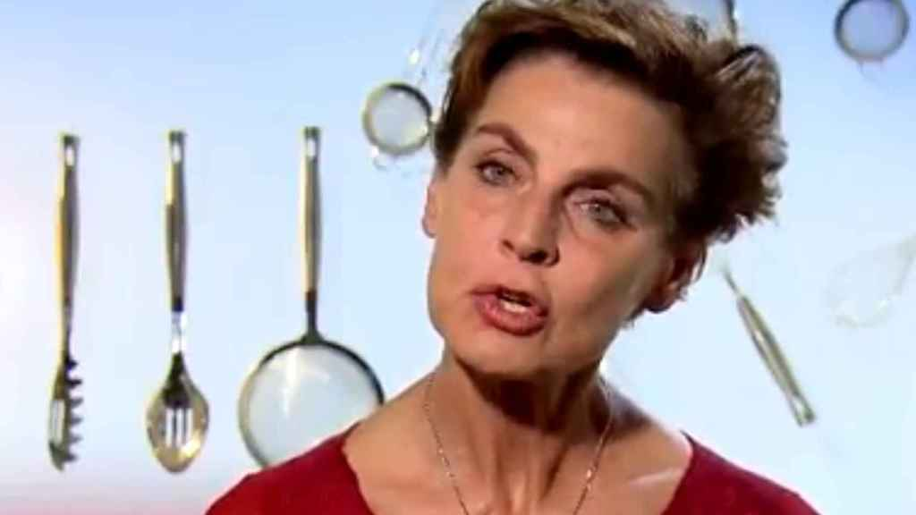 Antonia Dell'Atte tras su expulsión.