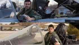 Arriba, el capitán Aybar; abajo, el teniente Pérez.
