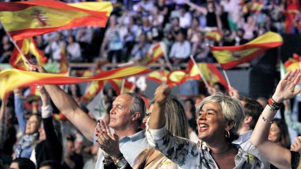 Mitin de Vox en octubre en el Palacio de Vistalegre de Madrid, donde acudieron 9.000 personas según la organización.