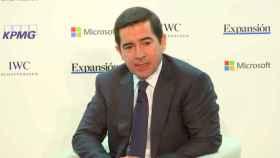 Carlos Torres Vila, CEO de BBVA, durante el IX Encuentro Financiero celebrado en Madrid.