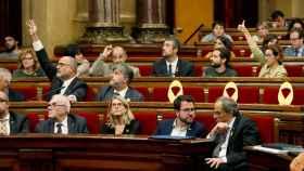 El Parlament, durante la votación en el pleno de este martes.