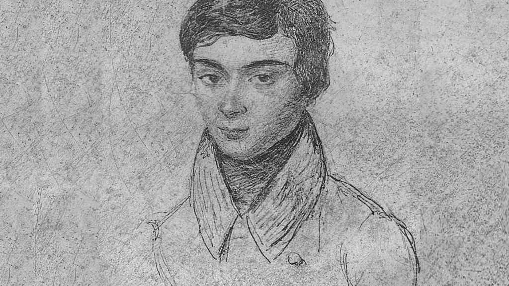Evariste Galois en un grabado de la época.