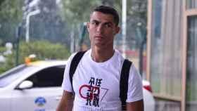Cristiano Ronaldo, en el palco del Juventus Stadium