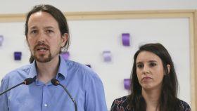 Pablo Iglesias e Irene Montero.