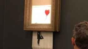 El cuadro de Banksy destruido por Banksy.
