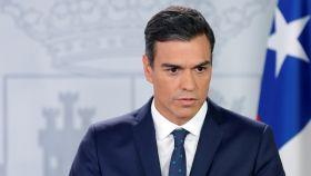Pedro Sánchez, este martes en la Moncloa.