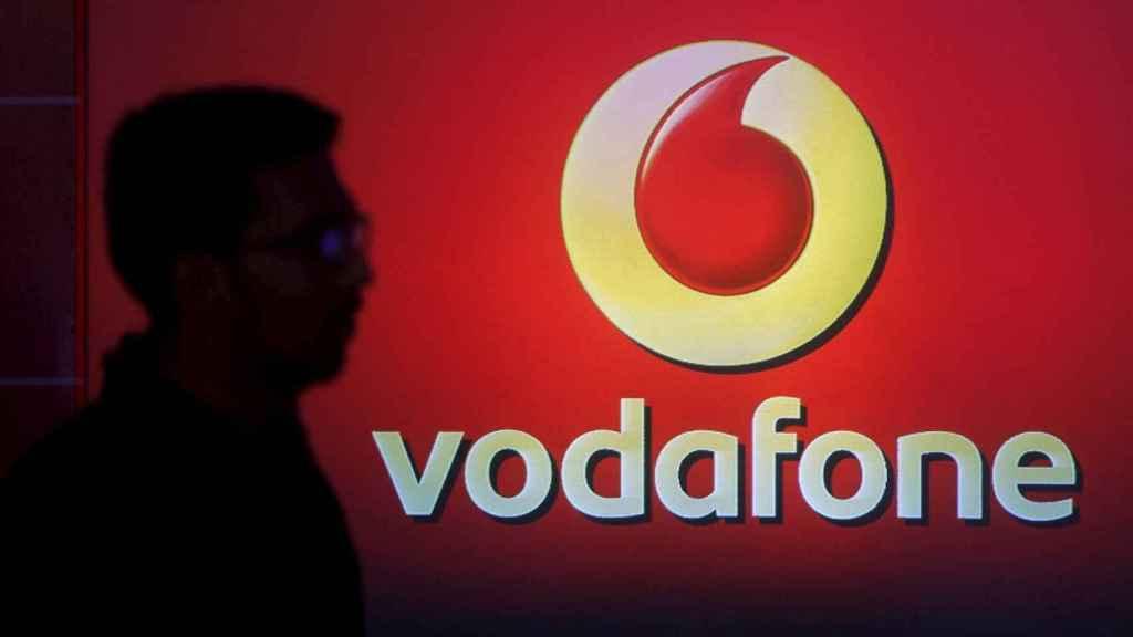 El logotipo de Vodafone.