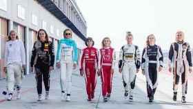Algunas de las pilotos miembros de la FIA Women in Motorsport Commission