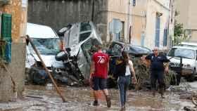 Las fuertes lluvias caídas en la noche del martes en Mallorca provocaron el desbordamiento del torrente de la localidad mallorquina de Sant Llorenç des Cardassar