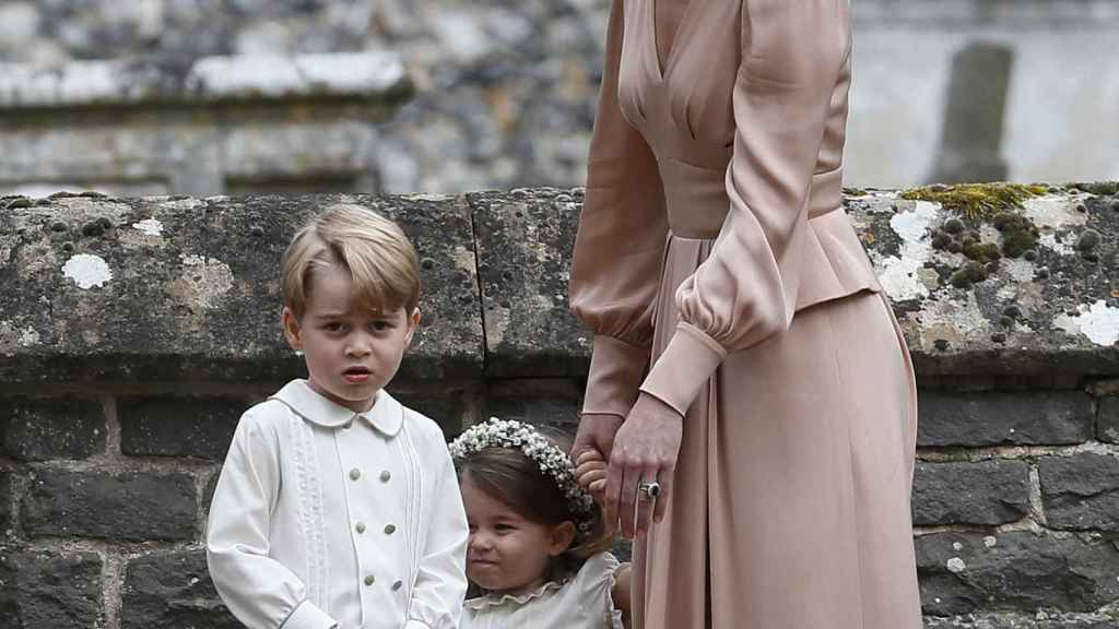 George y Charlotte en la boda de Pippa Middleton.