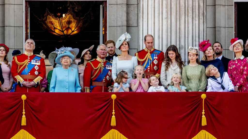 Miembros de la Familia Real británica en una imagen de archivo.