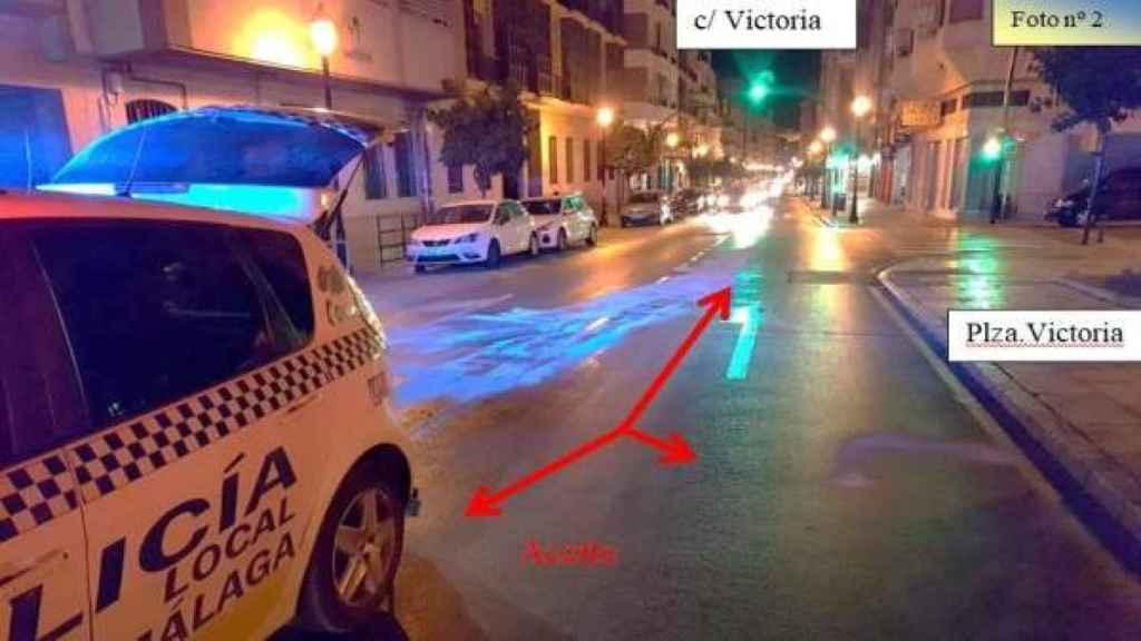 Una de las fotografías policiales del incidente.