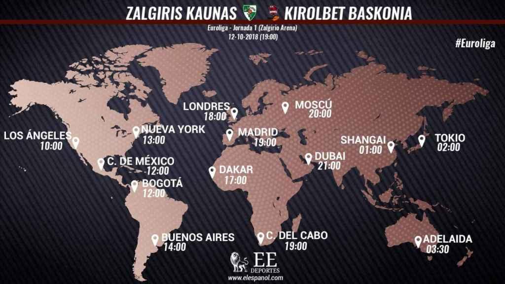 Horario Zalgiris - Baskonia