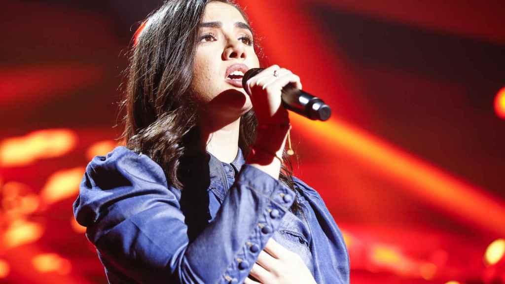 Marta, durante su actuación en 'Operación Triunfo'.
