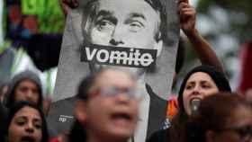 Manifestación contra Bolsonaro en Sao Paulo
