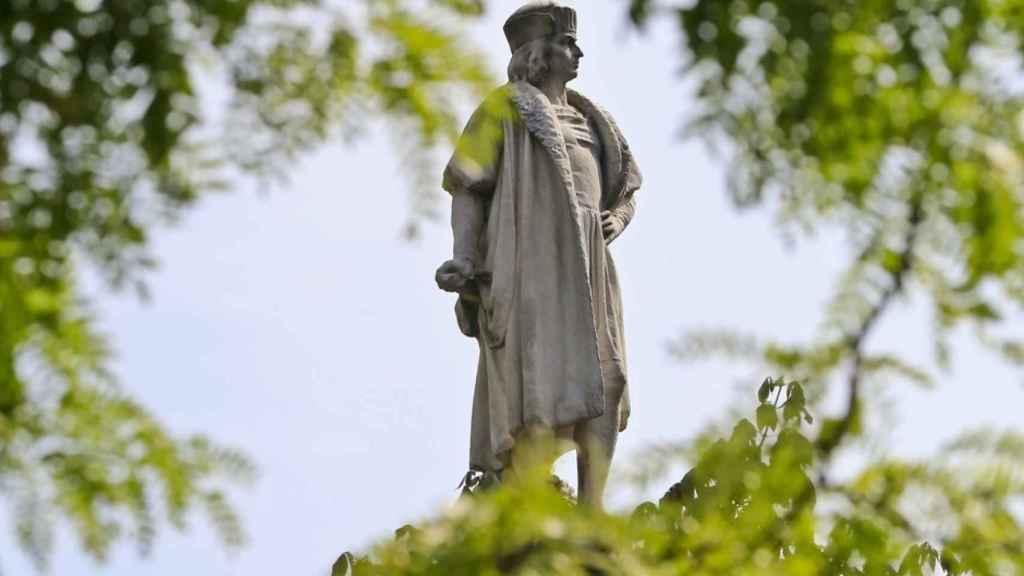 Una de las polémicas estatuas de Colón en Washington