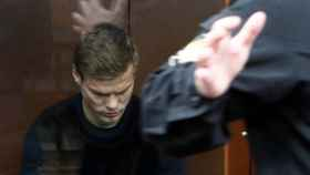Russian soccer player Kokorin attends a court hearing in Moscow