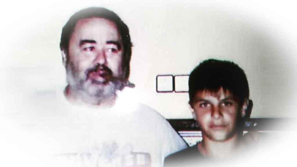 Joaquín Sánchez junto a su tío Joaquín, 'El Chino', ya fallecido y a quien considera su segundo padre.