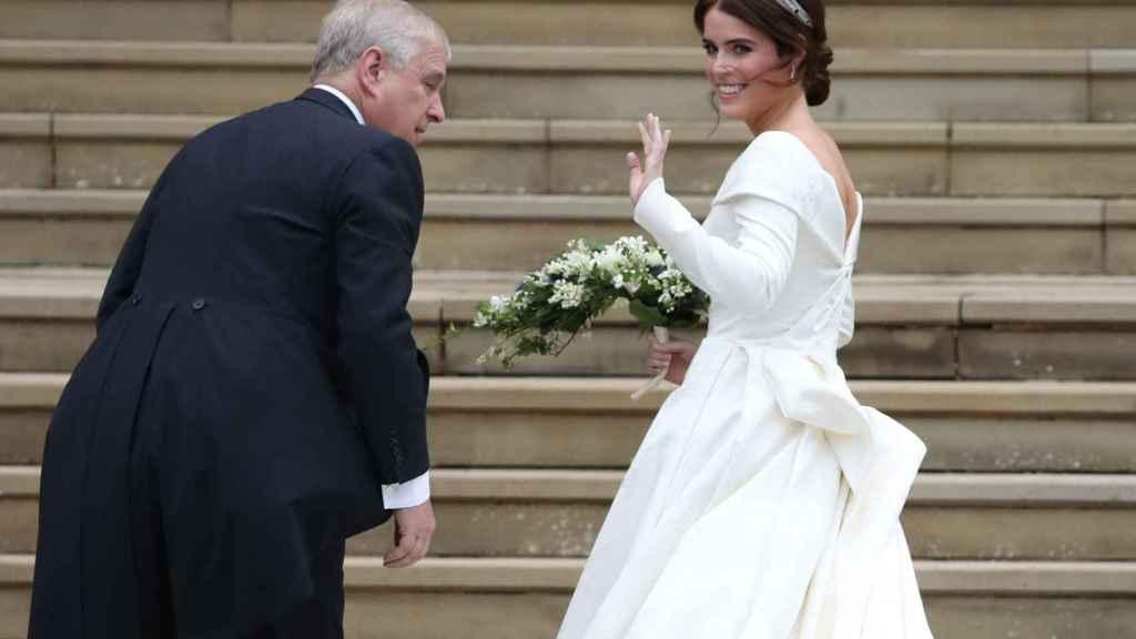Eugenia de York el día de su boda.