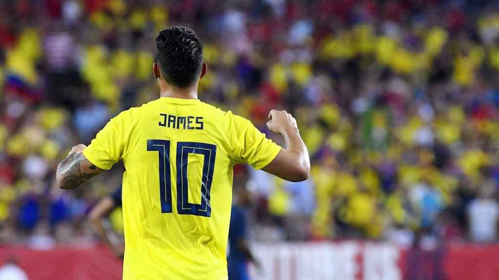 James Rodríguez en su partido ante EEUU
