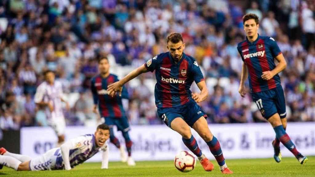 Borja Mayoral jugando un partido con el Levante. Foto: Instagram (@borjitamayoral)