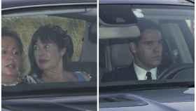 Carmen Martínez Bordiú y Luis Alfonso llegando al enlace.