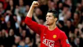 Cristiano, con la camiseta del Manchester United.