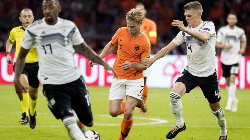 Frenkie De Jong en el partido entre Holanda y Alemania