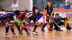 Portugal - España de la final europea de hockey patines femenino. Foto: fep.es