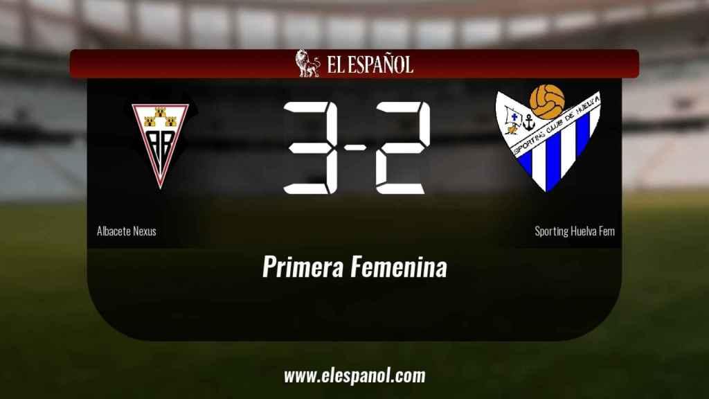 Tres puntos para el equipo local: Fundación Albacete 3-2 Sporting Huelva