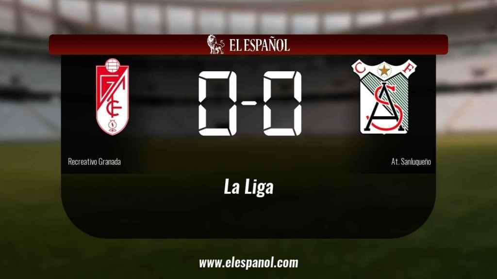 El At. Sanluqueño consigue un empate a cero frente al Recreativo Granada