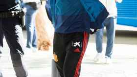 Llegada de la selección española al hotel de Sevilla
