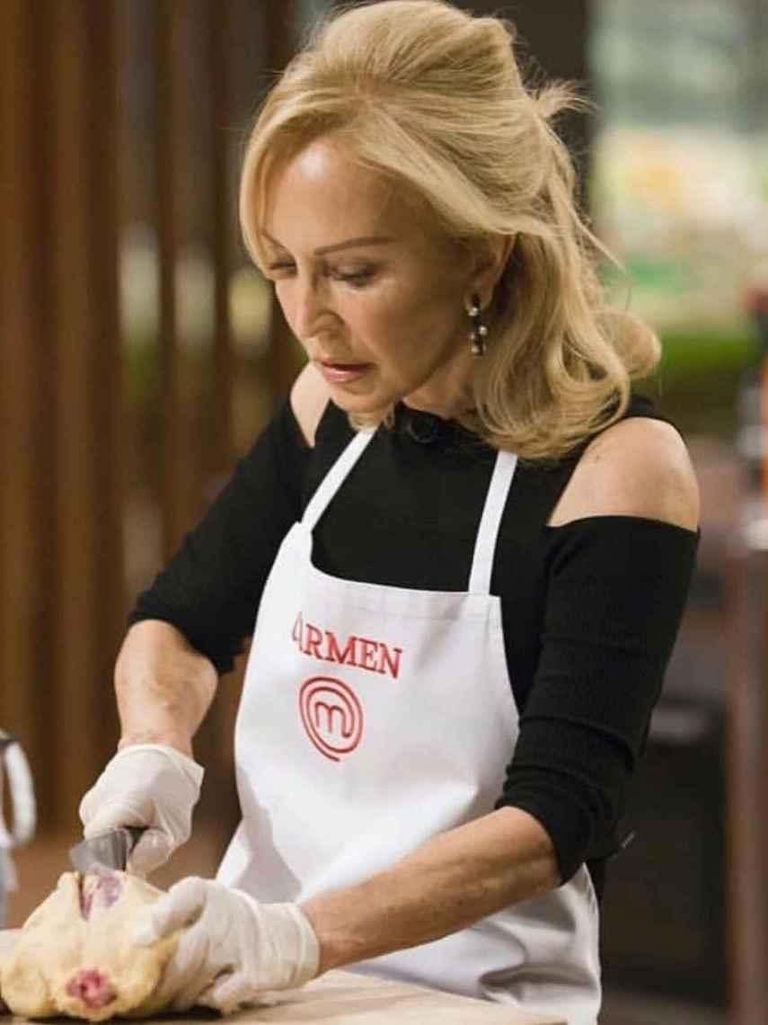 Carmen, durante el programa.