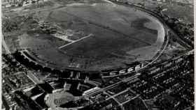 Vista aérea del aeropuerto de Tempelhof, donde los nazis instalaron un campo de trabajos forzados y el campo de concentración Columbia