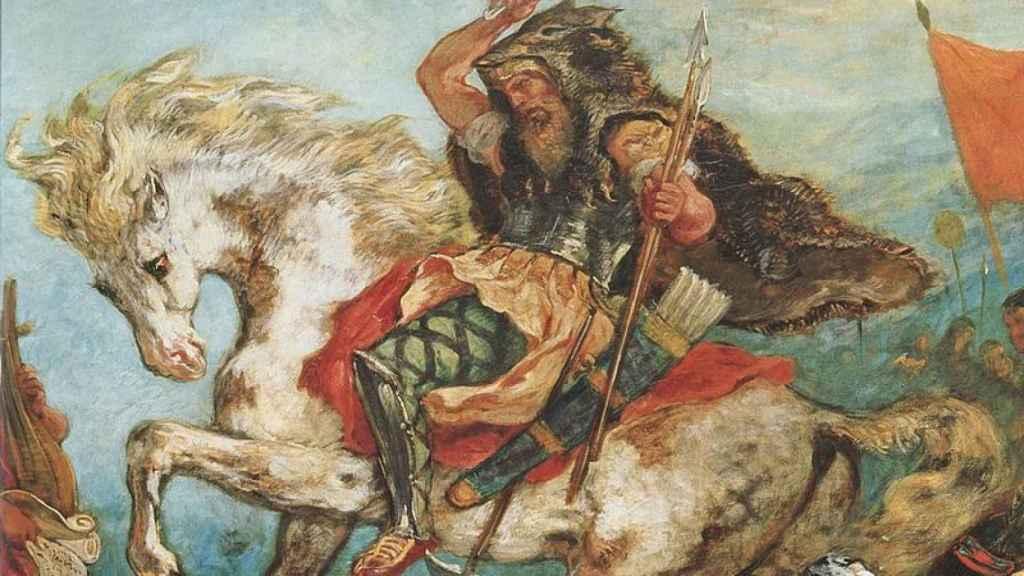 Retrato de Atila por Eugéne Delacroix.