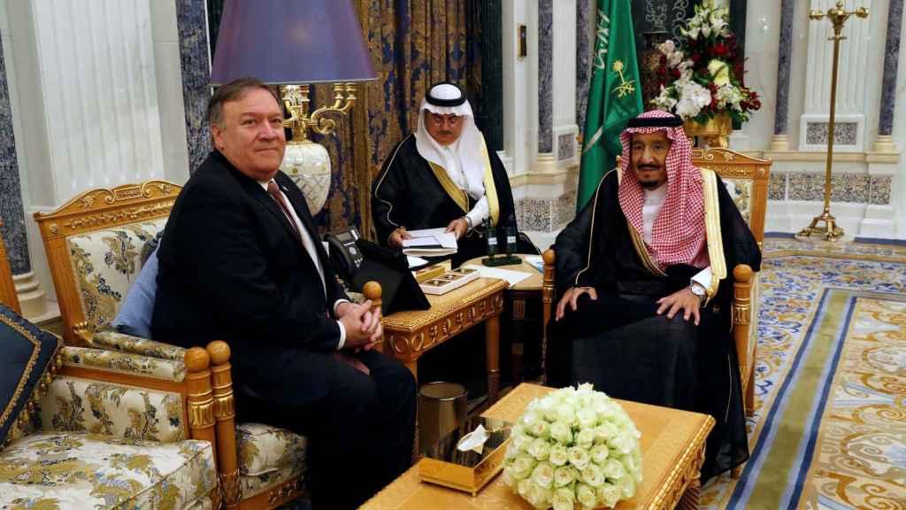 Pompeo junto con el rey Abdulaziz Al Saud.