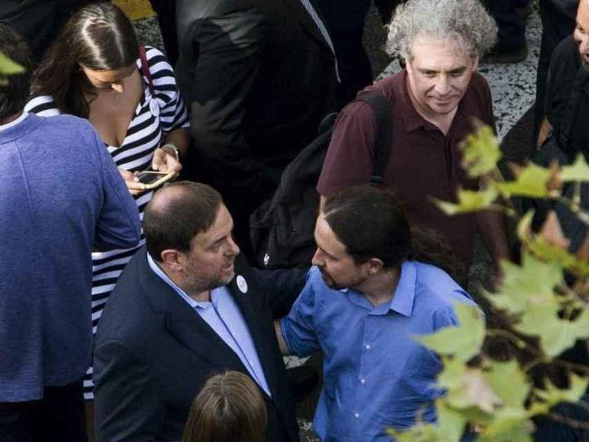 Pablo Iglesias y Oriol Junqueras en una imagen de archivo.