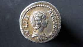 Moneda con la efigie de Julia Domna, la emperatriz más poderosa de Roma.