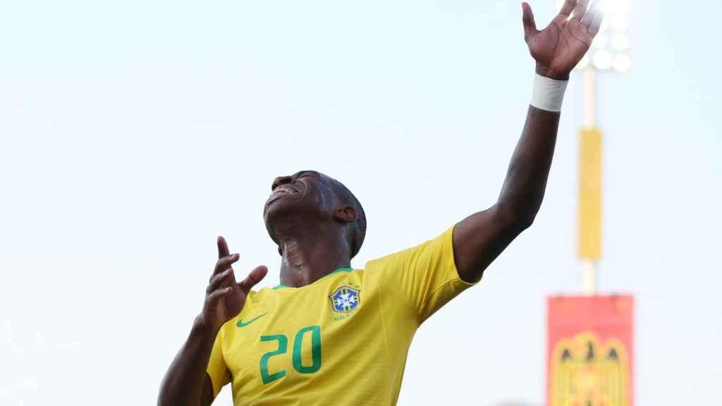 Vinicius, en un partido de la selección sub20 de Brasil