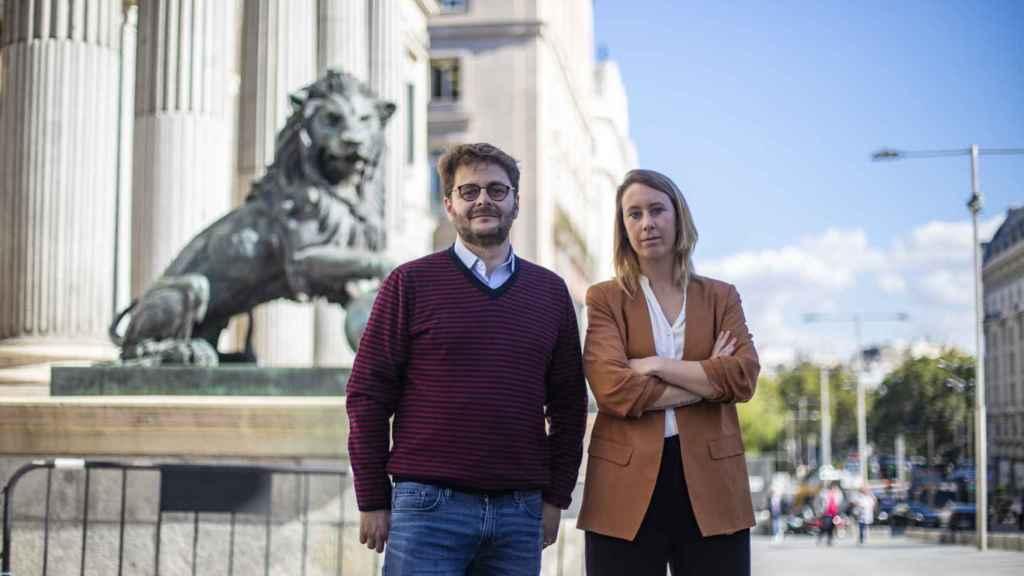 Los coordinadores de 'La España de Abel',  Juan Claudio de Ramón y Aurora Nacarino-Brabo