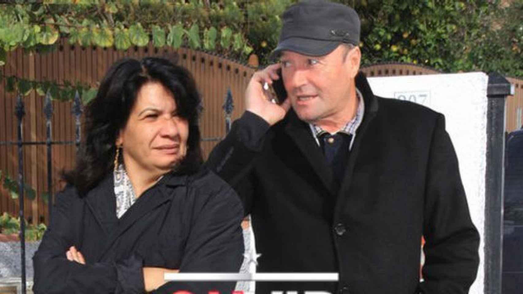 Amador Mohedano junto a su pareja Jacqueline.