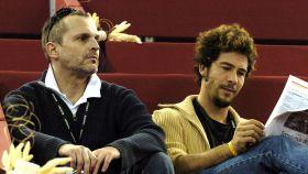 Miguel Bosé y Nacho Palau en Madrid hace años.