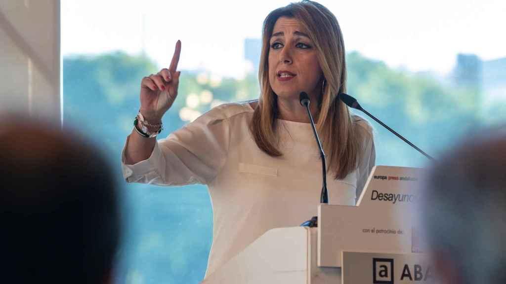 Susana Díaz, esta semana en un desayuno informativo en Sevilla.