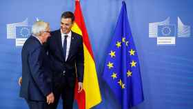 Pedro Sánchez y Jean-Claude Juncker, este jueves en Bruselas.